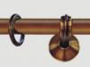 brązowy karnisz z żabkami