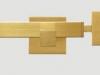 złoty kwadratowy karnisz